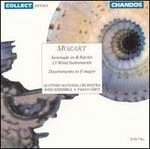 Mozart: Serenade in B flat for 13 Wind Instruments; Divertimento in F Major