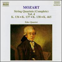 Mozart: String Quartets (Complete), Vol. 4 - Eder Quartet