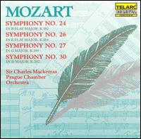 Mozart: Symphonies Nos. 24, 26, 27, 30 - Prague Chamber Orchestra; Charles Mackerras (conductor)