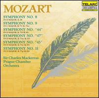 Mozart: Symphonies Nos. 8, 9, 44, 47, 45 & 11 - Prague Chamber Orchestra; Charles Mackerras (conductor)