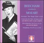 Mozart: Symphony No. 27; Divertimento K. 131 - Dennis Brain (horn); Lily Laskine (harp); René le Roy (flute); Royal Philharmonic Orchestra; Thomas Beecham (conductor)