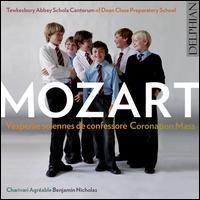 Mozart: Vesperae solennes de confessore; Coronation Mass - Charivari Agréable; Christopher Borrett (bass); Christopher Watson (tenor); Jeremy Kenyon (alto); Laurence Kilsby (treble);...