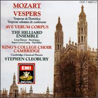 Mozart: Vespers; Ave verum corpus - Cambridge Classical Players (chamber ensemble); David James (vocals); Lynne Dawson (soprano); Paul Hillier (bass);...