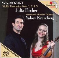 Mozart: Violin Concertos Nos 1, 2, 5  - Julia Fischer (candenza); Julia Fischer (violin); Pieter-Jan Belder (harpsichord); Yakov Kreizberg (candenza);...