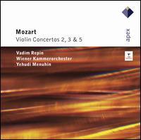 Mozart: Violin Concertos  Nos. 3, 2, 5 - Vadim Repin (violin); Wiener Kammerorchester; Yehudi Menuhin (conductor)