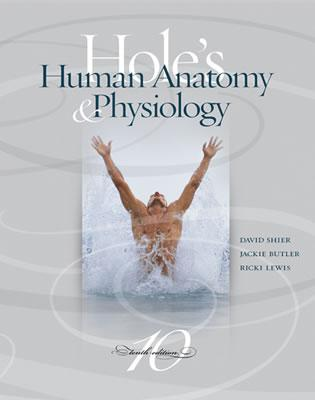MP: Hole's Human Anatomy & Physiology with OLC bind-in card - Shier, David, and Butler, Jackie, and Lewis, Ricki