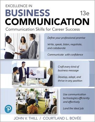 Mylab Business Communication with Pearson Etext -- Access Card -- For Excellence in Business Communication - Thill, John V, and Bovee, Courtland L