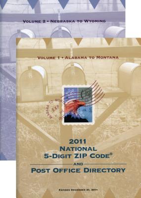 National Zip Code Directory 2011 (2 Volume Set) - United States Postal Service