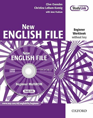 New English File: Beginner: Workbook with MultiROM Pack: Six-level general English course for adults - Oxenden, Clive, and Latham-Koenig, Christina, and Hudson, Jane