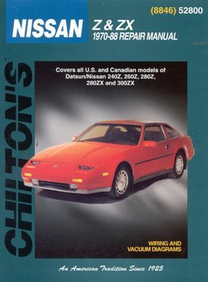 Nissan Z & ZX, 1970-88 - Chilton Automotive Books, and Chilton, and Tobias, Gordon Louiscious