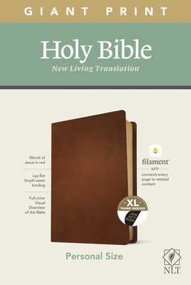 NLT Personal Size Giant Print Bible, Filament Enabled Edition (Red Letter, Genuine Leather, Black) - Tyndale (Creator)