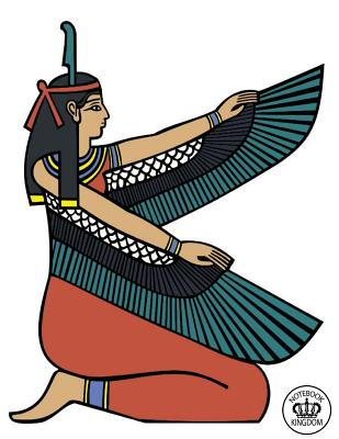 Notebook Kingdom Egypt Series: Egypt Notebook Notepad Journal Diary or Composition Book Lined 100 Pages 8.5x11 Egyptian Maat in White - Notebook Kingdom Collection