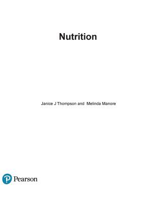 Nutrition: An Applied Approach - Thompson, Janice J, and Manore, Melinda, Dr.