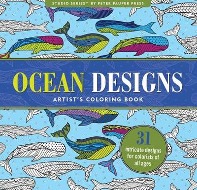 Ocean Designs Adult Coloring Book: 31 Stress-Relieving Designs -