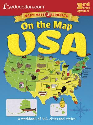 On the Map USA: A Workbook of U.S. Cities and States - Education Com