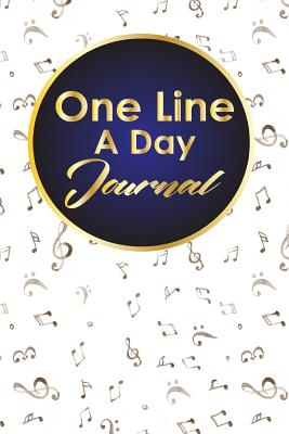 One Line A Day Journal: 5 Year Gratitude Journal, Five Year Memory Book, 5-Year Journal, One Line A Day Journal Five Year, Music Lover Cover - Publishing, Rogue Plus