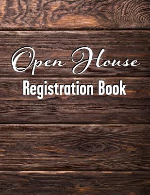 Open House Registration Book: Natural Dark Wood Cover Design - Registry and Log Book for Brokers Agents Home Owners and Sellers to Record Guests and Visitors - Real Estate Bizzy Trends
