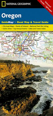 Oregon State Guide Map - Maps, National Geographic