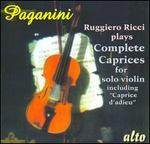 Paganini: Complete Caprices for Solo Violin
