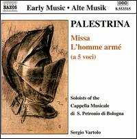 Palestrina: Missa L'homme arm� - Alessandro Carmignani (vocals); Furio Zanasi (vocals); Liuwe Tamminga (organ); Marco Scavazza (vocals);...