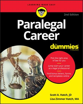 Paralegal Career for Dummies - Hatch, Scott A, and Hatch, Lisa Zimmer