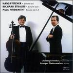 Pfitzner/Strauss/Hindemith: Cellosonatas