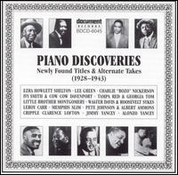Piano Discoveries: Newly Found Titles & Alternate Takes (1928-1943) - Various Artists