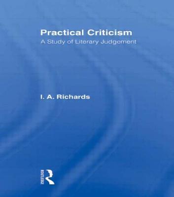 Practical Criticism V 4 - Richards, I A