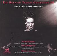 Première Performances - Rosalyn Tureck (piano); Ruggiero Ricci (violin); Saidenberg Little Symphony; Daniel Saidenberg (conductor)