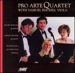 Pro Arte Quartet with Samuel Rhodes, Viola