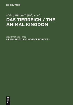 Pseudoscorpionidea I - Beier, Max (Editor), and Wermuth, Heinz (Editor), and Mertens, Robert (Editor)