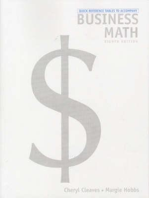 Quick Reference Table for Business Math & Study Guide Package - Cleaves, Cheryl