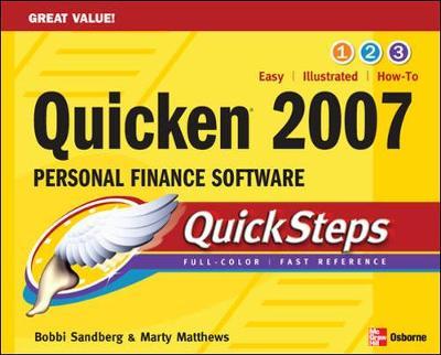 Quicken 2007 Personal Finance Software Quicksteps - Sandberg, Bobbi