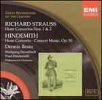 R. Strauss: Horn Concertos Nos. 1 & 2; Hindemith: Horn Concerto; Concert Music