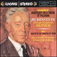 Rachmaninov: Rhapsody on a Theme of Paganini; de Falla: Nights in the Gardens of Spain; Chopin: Grande Polonaise - Arthur Rubinstein (piano); Symphony of the Air
