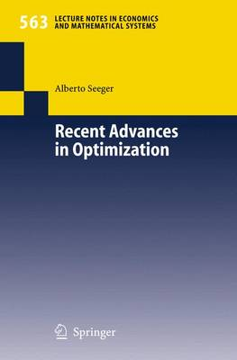 Recent Advances in Optimization - Seeger, Alberto (Editor)