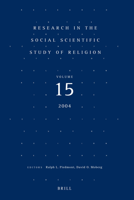 Research in the Social Scientific Study of Religion - Piedmont, Ralph L (Editor), and Moberg, David O, Ph.D. (Editor)