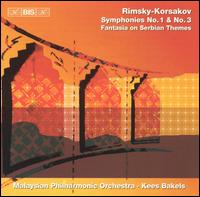 Rimsky-Korsakov: Symphonies No. 1 & No. 3; Fantasia on Serbian Themes - Malaysian Philharmonic Orchestra; Kees Bakels (conductor)