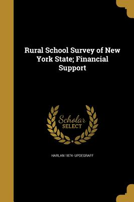 Rural School Survey of New York State; Financial Support - Updegraff, Harlan 1874-
