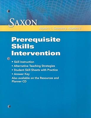 Saxon Algebra 1, Geometry, Algebra 2: Prerequisite Skills ...