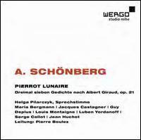 Schönberg: Pierrot Lunaire - Guy Deplus (clarinet); Helga Pilarczyk (speech/speaker/speaking part); Jacques Castagner (piccolo);...