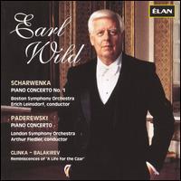 "Scharwenka: Piano Concerto No. 1; Paderewski: Piano Concerto; Balakirev: Reminiscences of ""A Life for the Czar"" - Earl Wild (piano)"