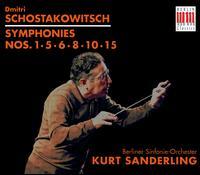 Schostakowitsch: Symphonies Nos. 1,5,6,8, 10, 15 [Box Set] - Gerhard Haas (trombone); Günter Sennewald (cello); Karl-Heinz Deutscher (violin); Berlin Symphony Orchestra;...