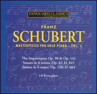 Schubert: Masterpieces for Solo Piano, Vol. 2 - Lili Kraus (piano)