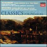 "Schubert: Piano Quintet ""The Trout""; Brahms: String Sextet No. 1"