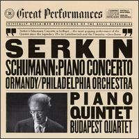 Schumann: Piano Concerto; Piano Quintet - Alexander Schneider (violin); Boris Kroyt (viola); Budapest Quartet; Joseph Roisman (violin); Mischa Schneider (cello);...