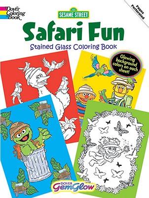 Sesame Street Safari Fun Gemglow Stained Glass Coloring Book - Sesame Street, and Coloring Books