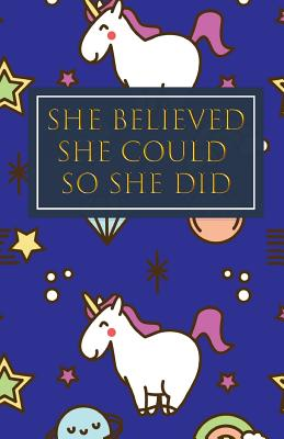 She Believed She Could So She Did: Bullet Grid Journal, Dot Grid Matrix Notebook Planner Paper, 5.5 X 8.5 inch, Professionally Designed Hand Lettering Concepting - Atomic Zen