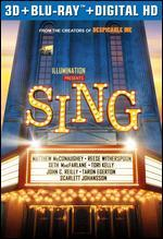 Sing [Includes Digital Copy] [3D] [Blu-ray]