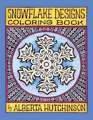 Snowflake Designs Coloring Book: 24 Designs in Elaborate Frames -